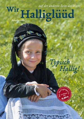 Titelbild des Halligmagazins 2014, zeigt ein Mädchen in Tracht